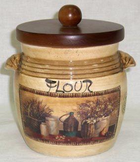"""Банка для сыпучих продуктов с деревянной крышкой (мука), 0,75л """"Натюрморт"""""""