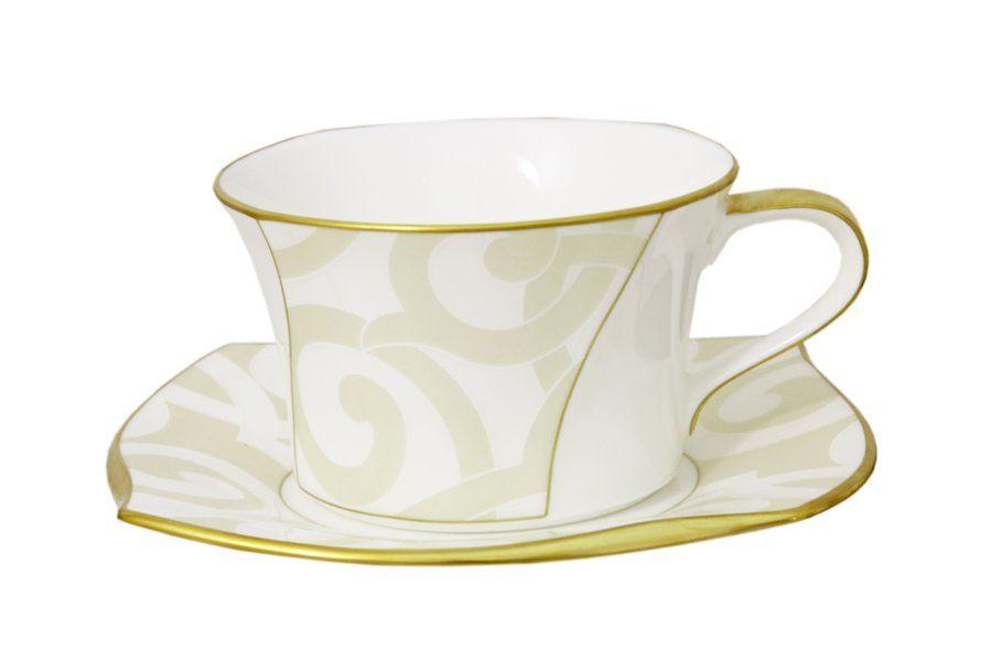 """Чашка с блюдцем """"Грегори"""", 0.33 л."""