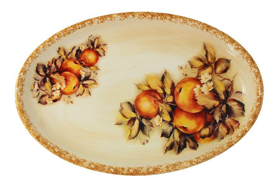 """Блюдо овальное """"Зимние яблоки"""", 36х23 см"""