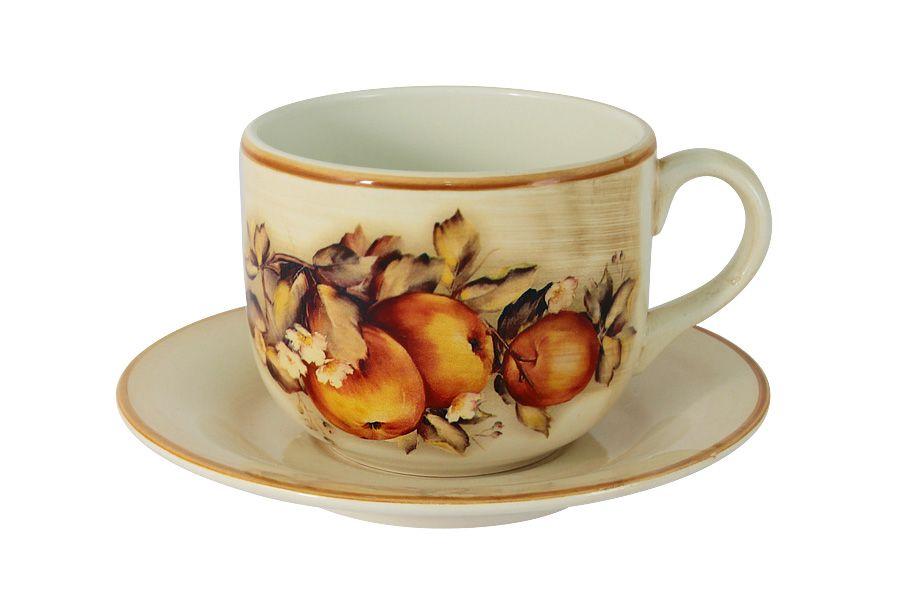 """Чашка с блюдцем """"Зимние яблоки"""", 0.5 л"""