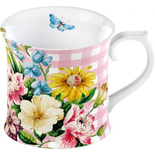 "Кружка ""Английский сад"" розовая, 350 мл"
