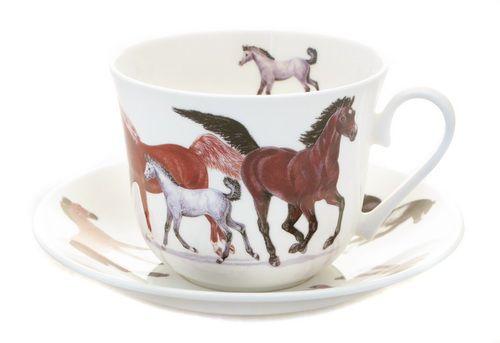 """Чайная пара """"Лошади"""", 500 мл"""