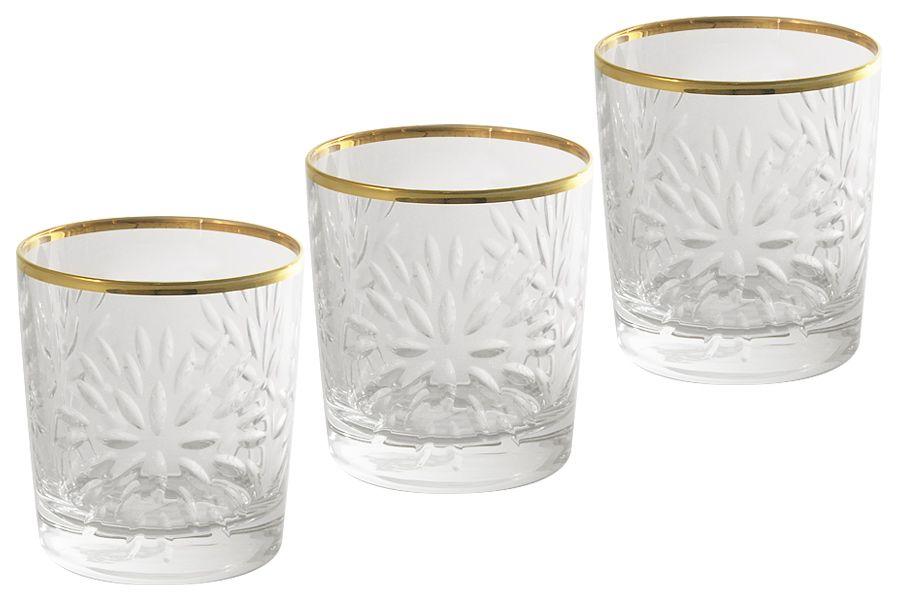 """Набор хрустальных стаканов для виски """"Умбрия Золото"""", 0.3л, 6шт."""