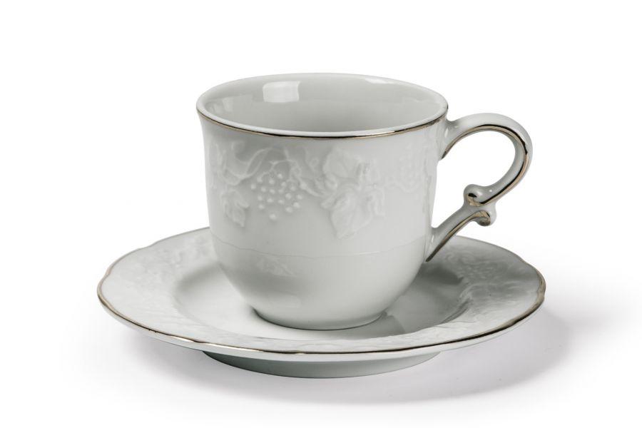 Чайная пара 200 мл, Filet Platine (Vendange)