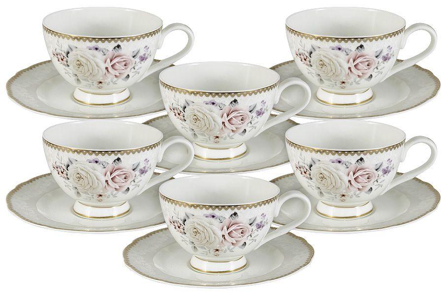 """Чайный набор на 6 персон """"Гармония"""", 0.2 л, 12 пр."""