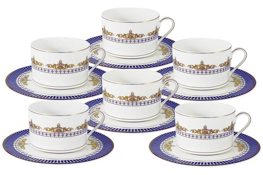 "Чайный набор на 6 персон ""Флагман"", 0.25 л, 12 пр."